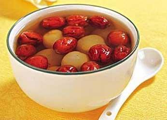 铁皮石斛红枣鸡蛋汤成品图