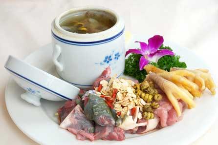 铁皮石斛煲汤药材搭配图例