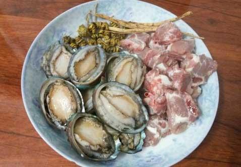 洋参石斛鲍鱼汤材料