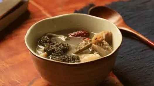 羊肚菌石斛鸡汤图片