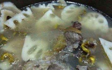 石斛麦冬莲藕猪骨汤