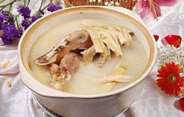 老鸭西洋参石斛汤